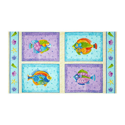 Jewels of The Sea Patches 24 In. Panel Multi