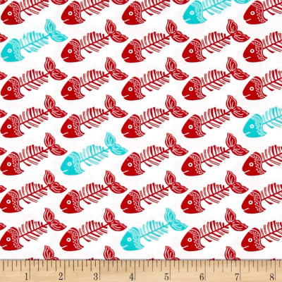 The Cat's Meow Fish Bones White/Red