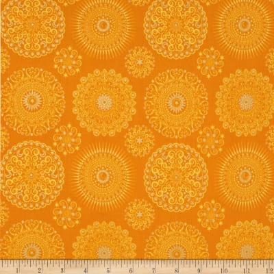 Celestial Sol Metallic Mandalas Orange