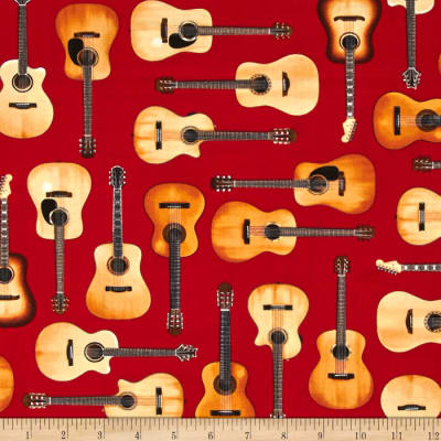 Kaufman In Tune Acoustic Guitars Red
