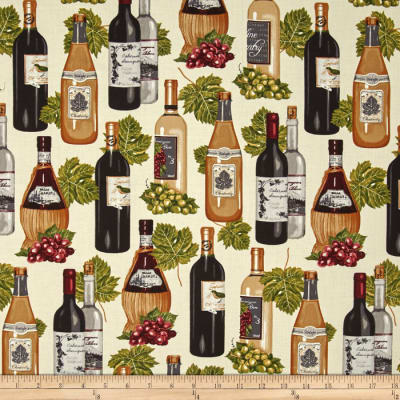 Kaufman Vineyard Collection Wine Bottles Ivory