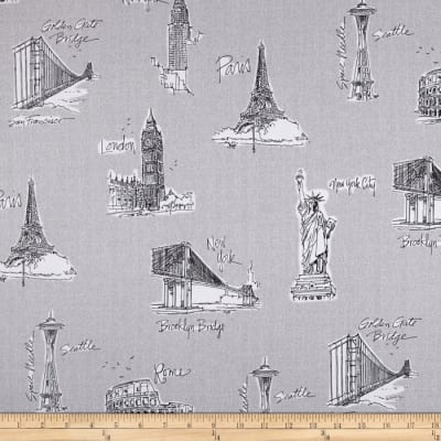 Kaufman City Chic Landmarks Grey