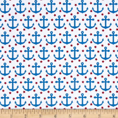 Kaufman Fabulous Foxes Anchors White