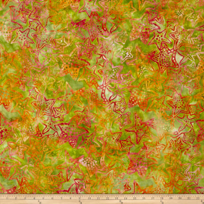 Kaufman Totally Tropical Batik Starfish Island Green