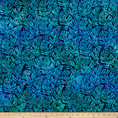 Kaufman Totally Tropical Batik Palm Leaves Tropical