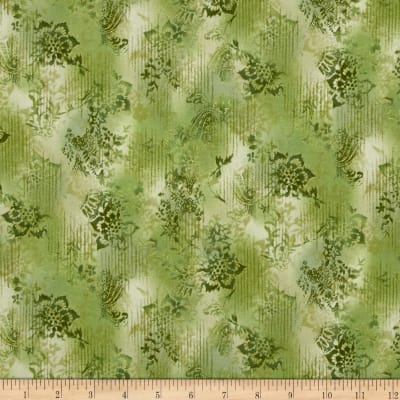Kaufman Trieste Metallic Hint of Stripe Olive