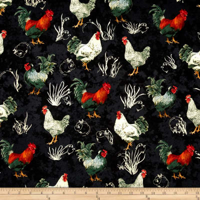 Penny Rose French Rooster Black