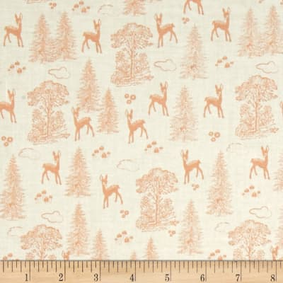 Riley Blake Woodland Spring Friends Coral