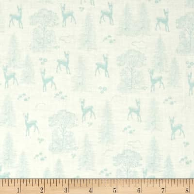 Riley Blake Woodland Spring Friends Aqua