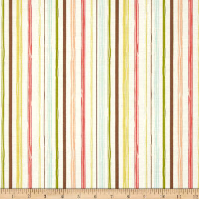 Riley Blake Woodland Spring Stripe Cream