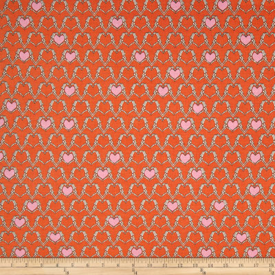 Riley Blake Zombie Love Heart Orange