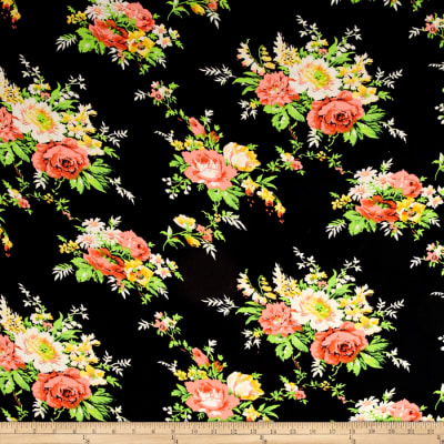 Cotton Voile Floral Black/Multi