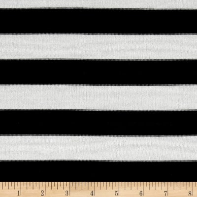Sweater Knit Medium Stripe Frost/Black
