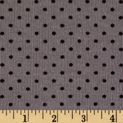 Soft Sweater Knit Polka Dots Slate/Black
