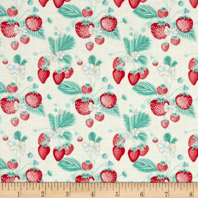 Penny Rose Shabby Strawberry Main Cream