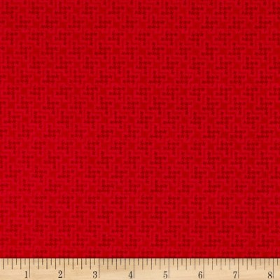 Penny Rose Shabby Strawberry Houndstooth Red