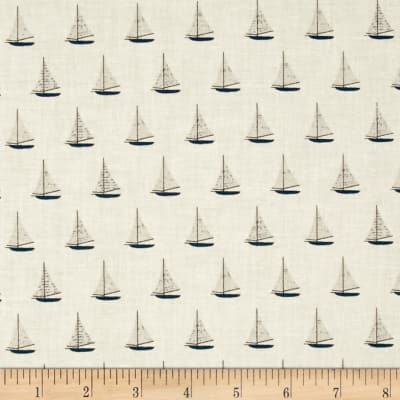Riley Blake Offshore Sailboat Tan
