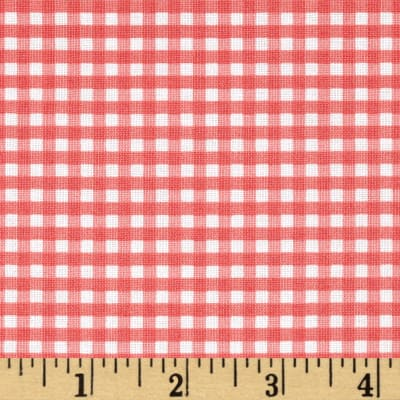 "Riley Blake 1/8"" Gingham Coral"