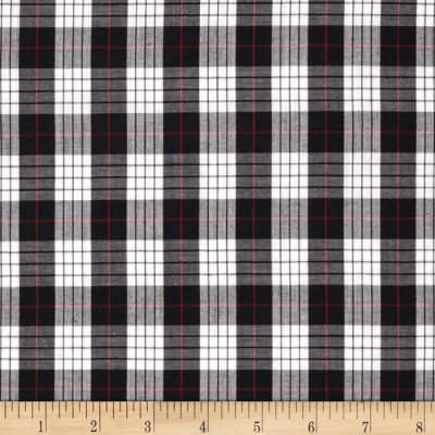 Imperial Tartan Plaid Griffin Black/White/Red