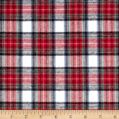 Rodeo Cotton Flannel White/Red/Black
