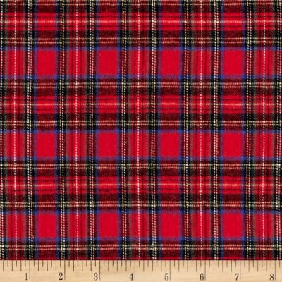 Rodeo Cotton Flannel Plaid Red/Black/Royal
