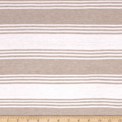 Sweater Knit Stripe Taupe/White