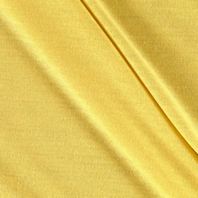 Stretch Jersey Knit Solid Yellow