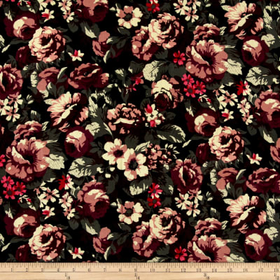 21 Wale Printed Corduroy Romantic Rose