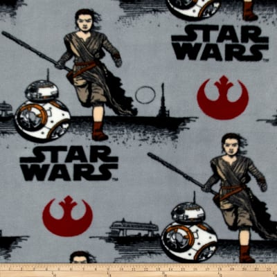 Star Wars The Force Awakens Fleece Rey Grey