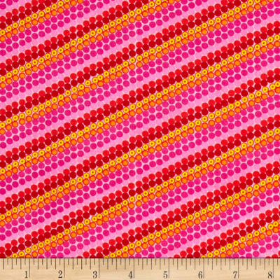 Timeless Treasures Cassidy Bias Dot Stripe Pink