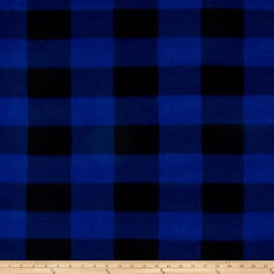 Plaid Fleece Print Royal