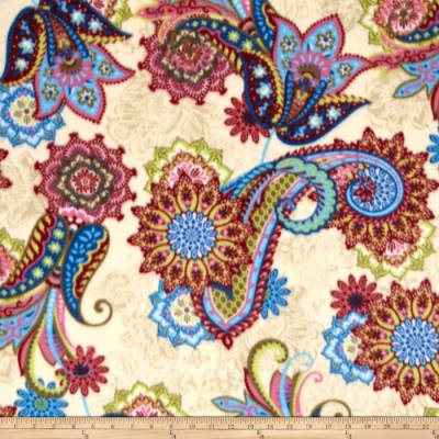 Fancy Paisley Printed Fleece