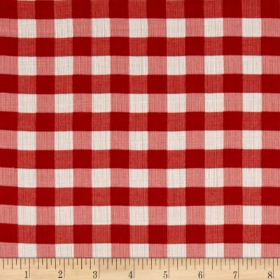"Riley Blake Double Gauze 1/2"" Gingham Red"