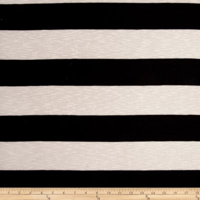 Jersey Knit Stripe Black/White