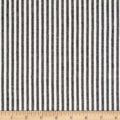 Linen Blend Thin Stripe Navy/White