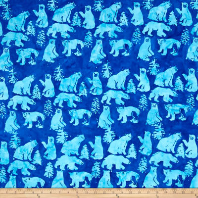 Island Batik Bear Light Blue/Dark Blue