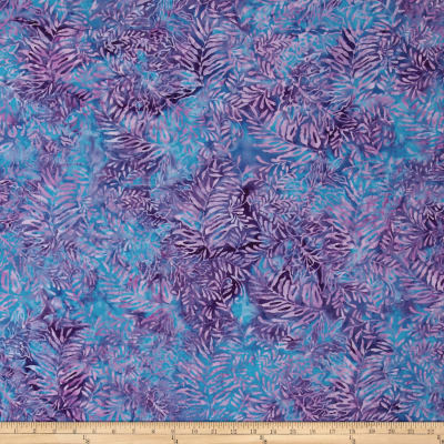 Island Batik Fern Purple/Light Blue