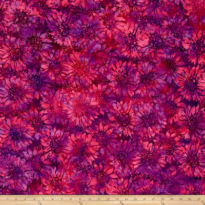 Island Batik Sunflower Dark Pink