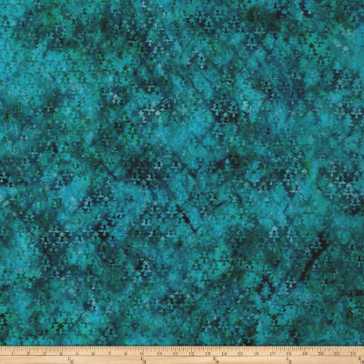 Island Batik Tree Teal/Green