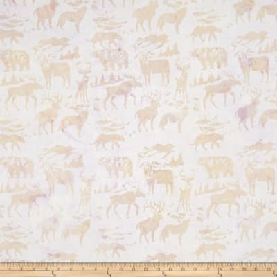 Island Batik Woodland Animals Light Beige