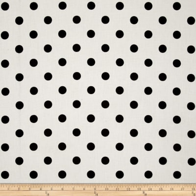 Premier Prints Polka Dot White/Black