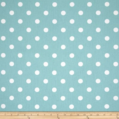 Premier Prints Polka Dot Twill Canal/White