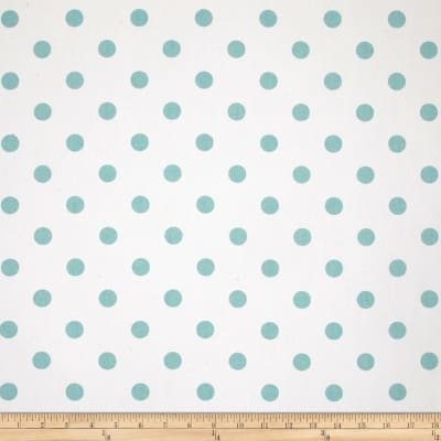 Premier Prints Polka Dot Twill White/Canal