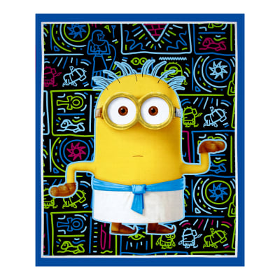QT Fabrics Minions Egyptian Minion 36 In. Panel Blue