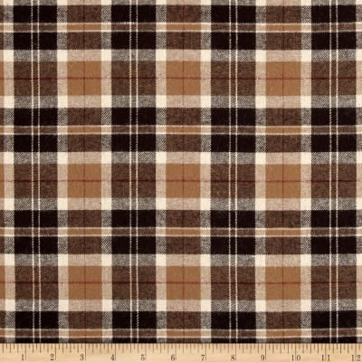 Yarn Dyed Flannel Plaid Brown