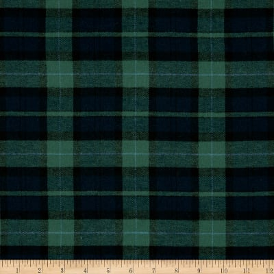 Yarn Dyed Flannel Plaid Hunter/Navy