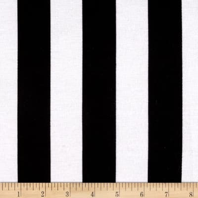 Ponte de Roma Knit Large Stripe Black/White