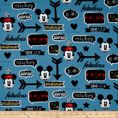 Disney Mickey and Minnie Vintage Icons Blue