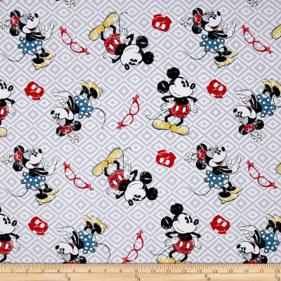 Disney Mickey and Minnie Vintage Toss Grey