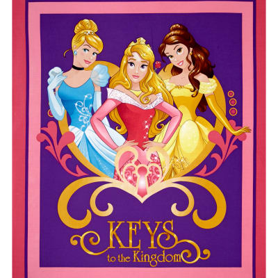 Disney Princess Movie Moments Keys to the Kingdom Panel Pink